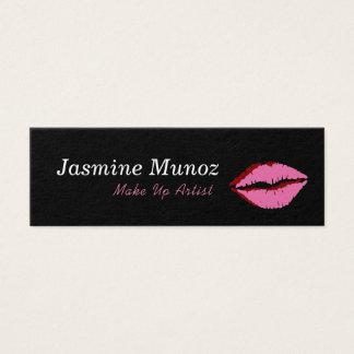 Bilden Sie Künstler-Lippenstift-Kuss Mini Visitenkarte