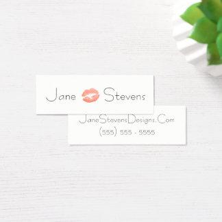 Bilden Sie Künstler-Lippenstift-Kuss-Minimalisten Mini Visitenkarte