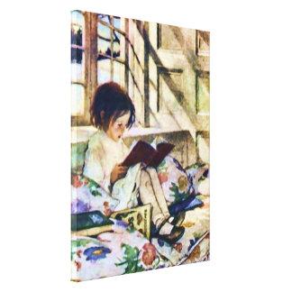 Bilderbücher in Winter Jessie Willcox schöner Leinwanddruck