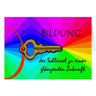 Bildung, Bildung, Lehrer-Anerkennung, deutsch Karte