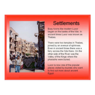 Bildung, Geschichte, Geografie, Nil-Regelung Postkarte