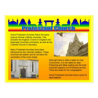 Bildung, Religion, protestierende Kirche Postkarte