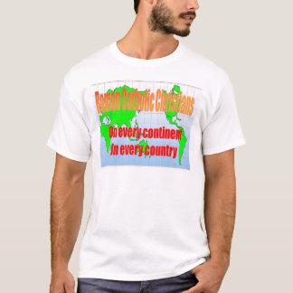 Bildung, Religion, römische Katholische weltweit T-Shirt