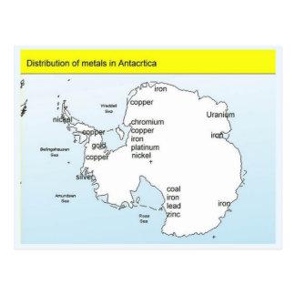 Bildung, Wissenschaft, Metalle in der Antarktis Postkarte