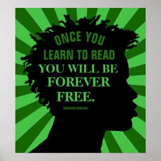 """Bildungs-Zitat durch Frederick Douglass 18"""" X20 """" Poster"""