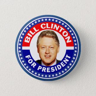 Bill Clinton für Präsidenten Runder Button 5,7 Cm