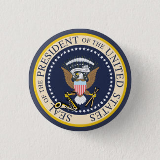 Bill Clinton: PräsidentenSiegel: Knopf Runder Button 2,5 Cm