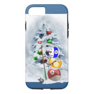 Billard-Ball-Schneemann-Weihnachten iPhone 7 Hülle