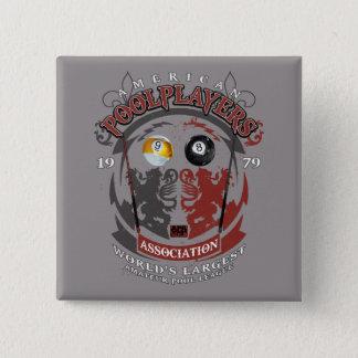 Billard-Löwen Quadratischer Button 5,1 Cm