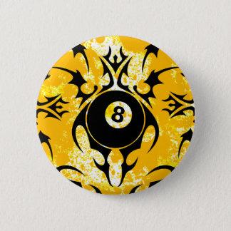 Billard. Stammes- Runder Button 5,1 Cm