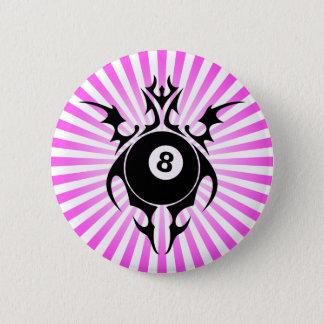 Billard. Stammes- Runder Button 5,7 Cm