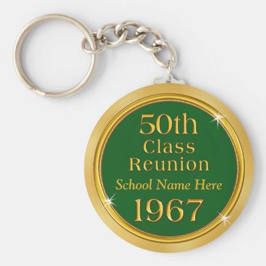 Billig 50. Klassen-Wiedersehen Keychains, Standard Runder Schlüsselanhänger