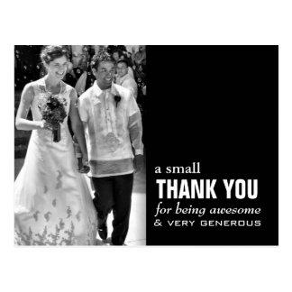 Billige Hochzeit danken Ihnen, das lustige Foto zu Postkarten