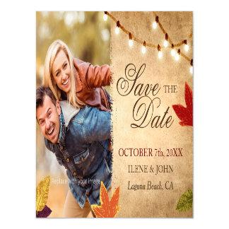Billige Save the Date rustikale Hochzeits-Ideen Magnetische Karte