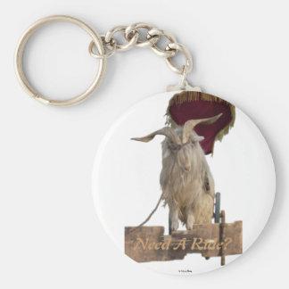 Billy die Ziege Keychain Standard Runder Schlüsselanhänger