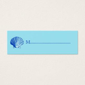 Bimini blaue Muschel-Sitzplatz-Karten Mini Visitenkarte