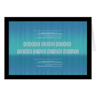 Binärer Code für fantastische Geburtstags-Karte Grußkarte