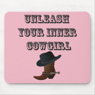 Binden Sie Ihr inneres Cowgirl los Mauspad