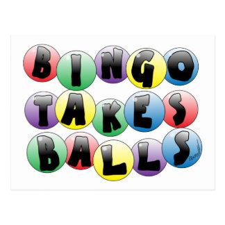 Bingo-Bälle Postkarte