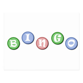Bingo-Chips Postkarte
