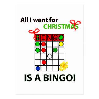 BINGO I wollen ein Bingo für Weihnachten Postkarte