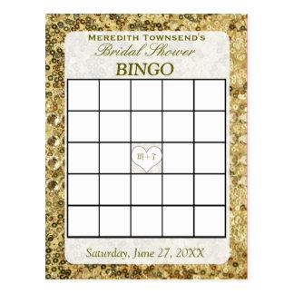 Bingo-Karte - GoldPaillette Postkarten