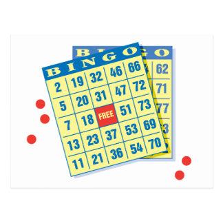 Bingo-Karte - Spiel zum zu gewinnen - viel Postkarte