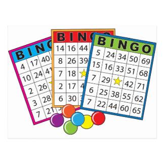 Bingo-Karten Postkarte