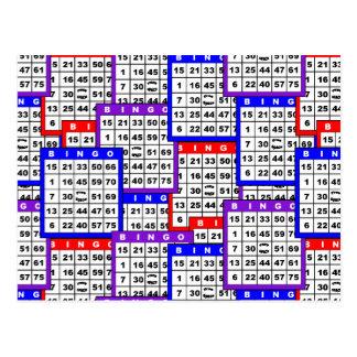 Bingo-Karten Postkarten