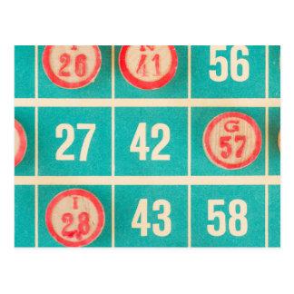 Bingo-Kerbe-Karten-Nahaufnahme Postkarten