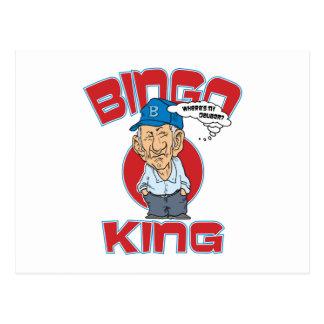 Bingo-König Postkarte