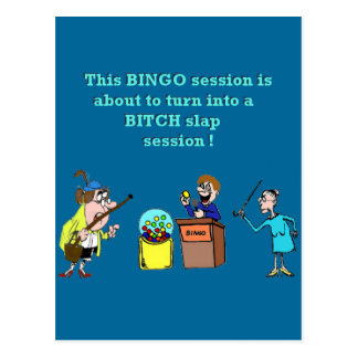 Bingo schlecht gegangen postkarten
