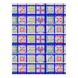 Bingo-Spiel kopiert großes Gitter Postkarte