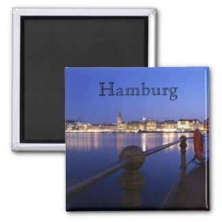 Binnenalster de Hambourg heure bleue d'aimant
