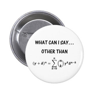 Binomiales Theorem-Knopf Runder Button 5,7 Cm