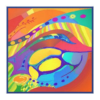 Bio Leben-Scan oder zelluläres hellblaues Leinwanddruck