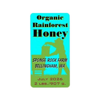 Bio Regenwald-Honig-Gewohnheits-Imker Adressaufkleber