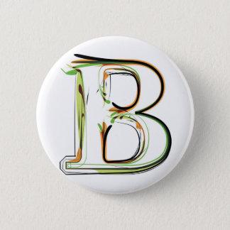 Bio Schriftartillustration Runder Button 5,1 Cm