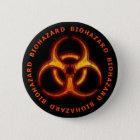 Biogefährdung-Zombie-Warnung Runder Button 5,1 Cm
