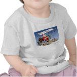 Biplan vintage frais le père noël t-shirt