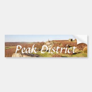 Birchen Rand, Derbyshirehöchstbezirks-Foto Autoaufkleber