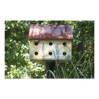 Birdhouse im Sun Individuelles Druckpapier