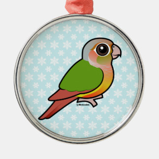 Birdorable Ananas Grünes-cheeked Conure Silbernes Ornament