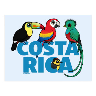 Birdorable Costa Rica Postkarte