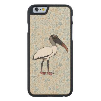 Birdorable hölzerner Storch Carved® iPhone 6 Hülle Ahorn