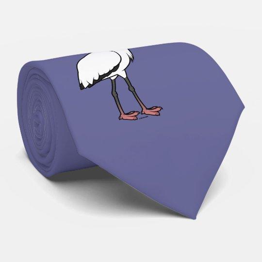Birdorable hölzerner Storch Individuelle Krawatten