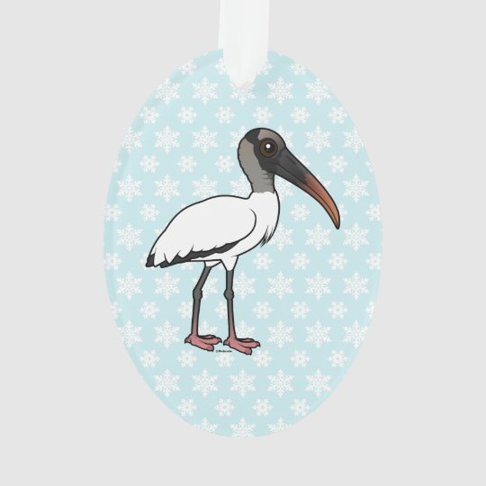 Birdorable hölzerner Storch Ornament