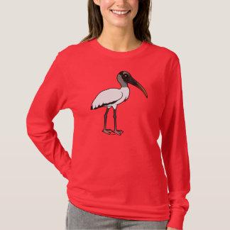 Birdorable hölzerner Storch T-Shirt