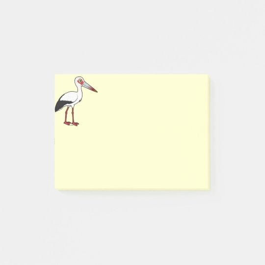 Birdorable Maguari Storch Post-it Haftnotiz