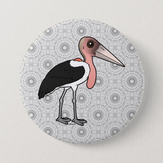Birdorable Marabu-Storch Runder Button 7,6 Cm